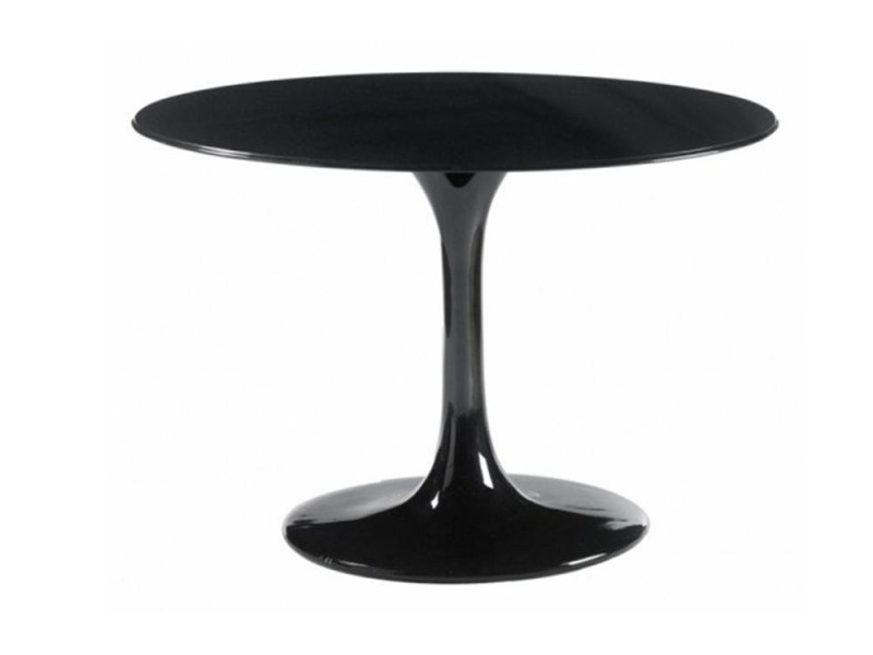 table ronde de repas design tulipe laqu e noir 90 cm 20100827346 conforama. Black Bedroom Furniture Sets. Home Design Ideas