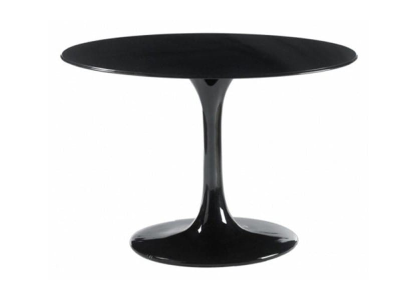 table ronde de repas design tulipe laqu e noir 90 cm 20100827346 vente de table basse conforama. Black Bedroom Furniture Sets. Home Design Ideas
