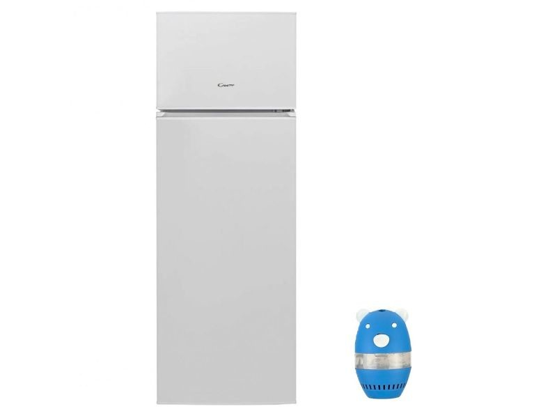 Refrigerateur frigo double porte blanc 240l a+ froid statique conservation aliment