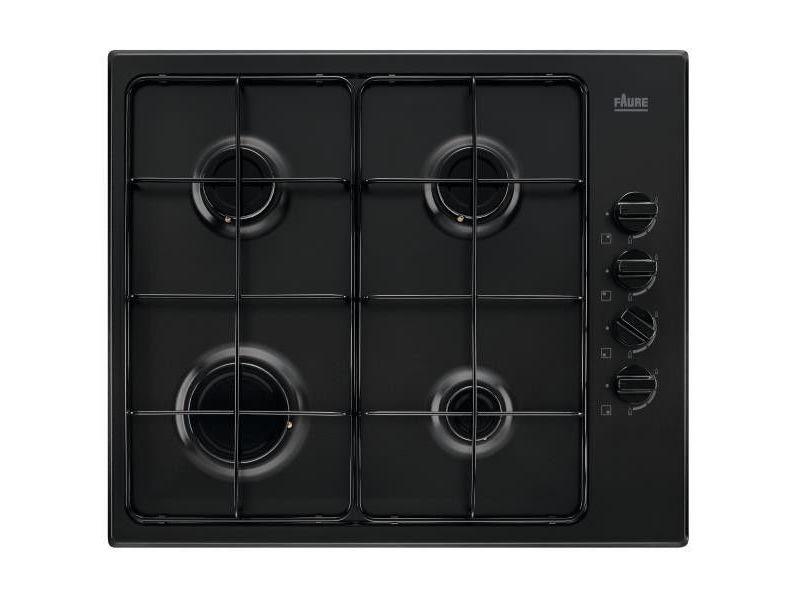 Table de cuisson gaz 60cm 4 feux 8000w noir - fgh62414ba 4068