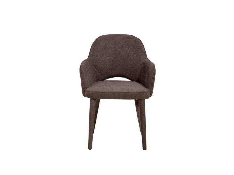 Chaise cassiopea marron en métal tissu pour le bureau salon