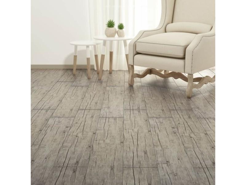 Icaverne - tapis et revêtements de sol serie planche de plancher pvc 5,26 m² couleur de chêne délavé