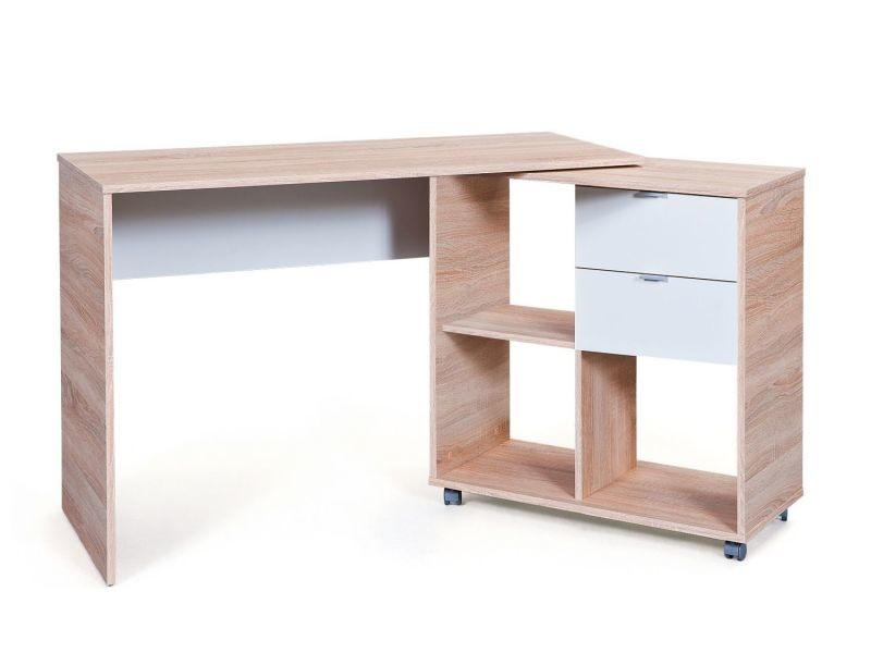 bureau modulable 120 156 cm avec espace de rangement. Black Bedroom Furniture Sets. Home Design Ideas