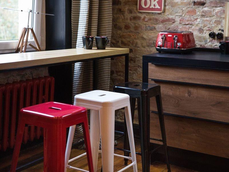 2 tabourets de bar blanc de 76 cm cabrillo 89938