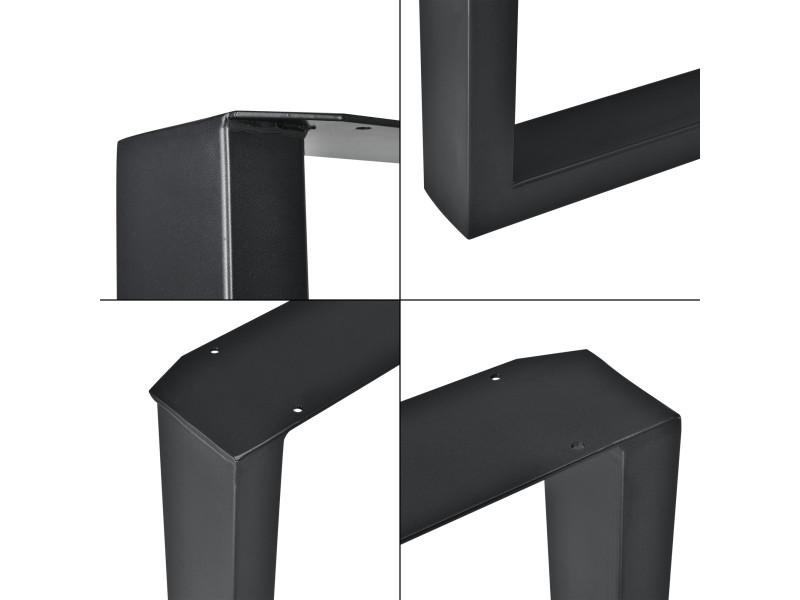 Encasa Set De 2 Pieds De Table Pied De Meuble Rectangulaire Pied