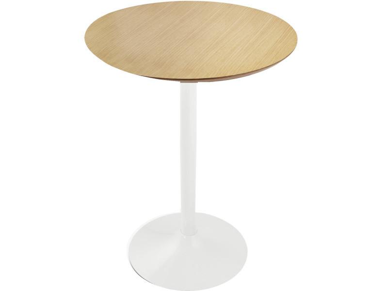Table de bar naturelle 4 personnes - 90 x 90 x 110 cm usage professionnel -pegane-