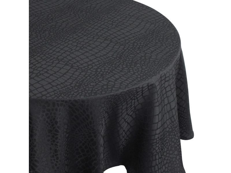 Nappe ronde 180 cm jacquard 100% polyester lounge noir