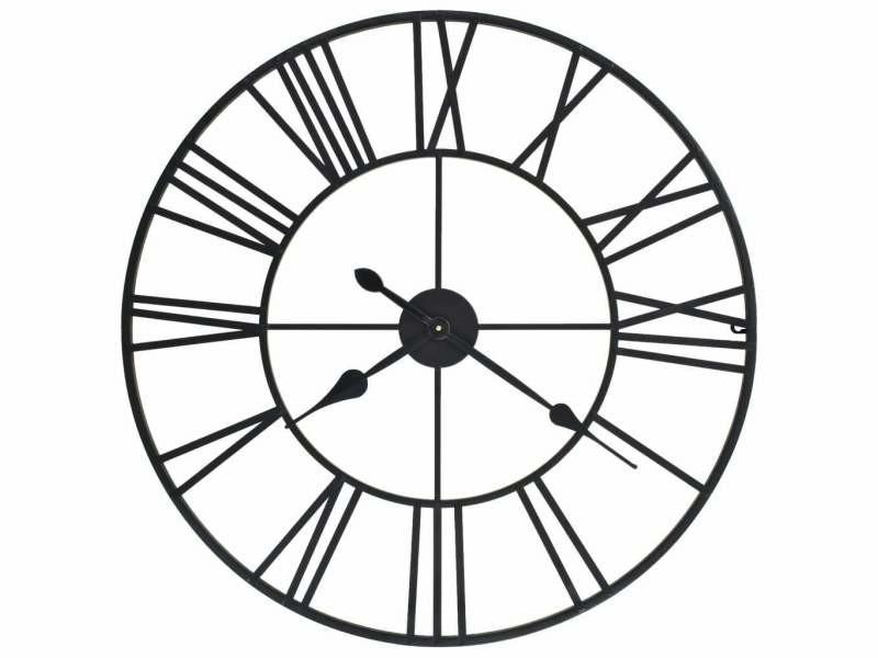 Horloge murale vintage avec mouvement à quartz métal 80 cm xxl dec022275