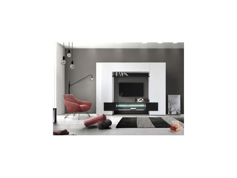 Ensemble meuble tv enrico 258 cm noir