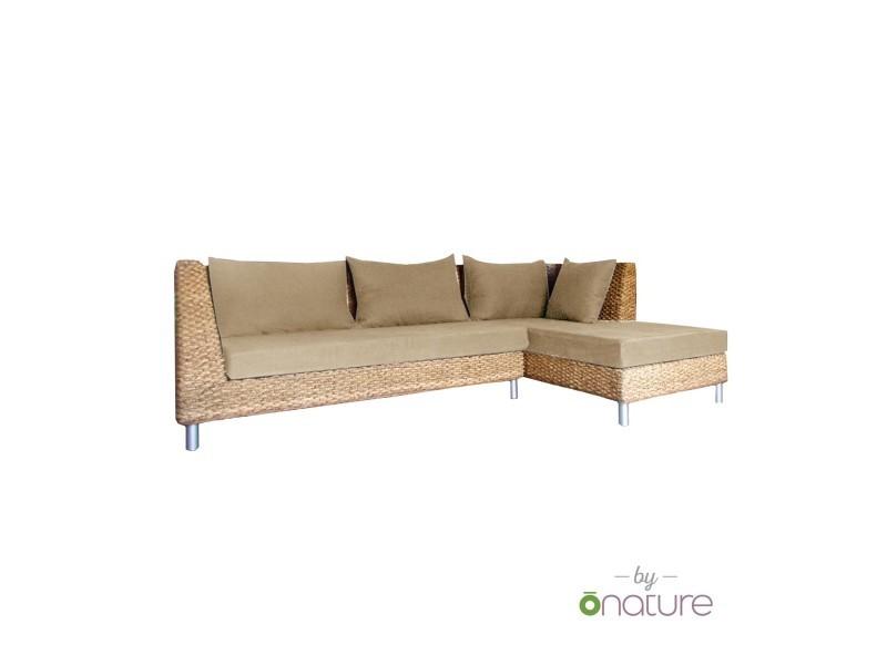 canap d 39 angle tissu bio lin ou chanvre vente de onature conforama. Black Bedroom Furniture Sets. Home Design Ideas