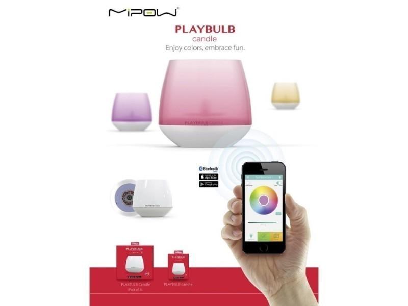 Articles Pour Le Four Autres Pack 3 Bougie Connectée Contrôle Bluetooth Smartphone Et Tab