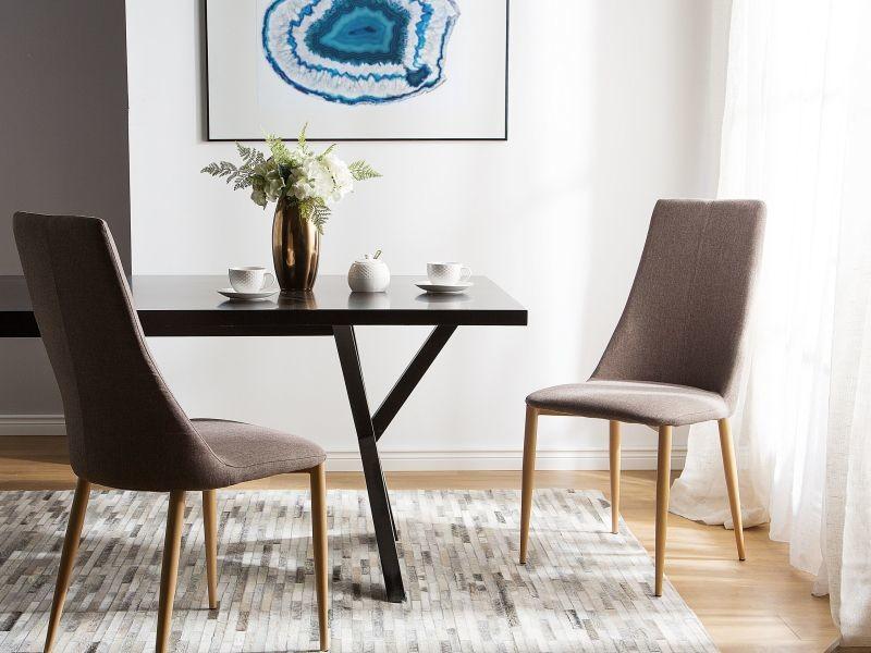 Lot de 2 chaises beige taupe CLAYTON  