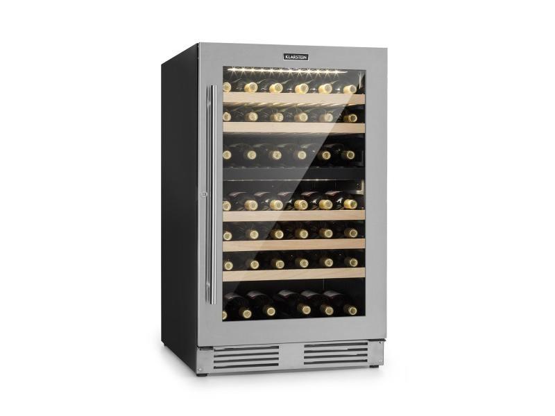 Klarstein vinovilla duo79 cave à vin réfrigérée 189 litres / 79 bouteilles - porte vitrée & cadre inox - classe a HEA10-Vinovilla Duo