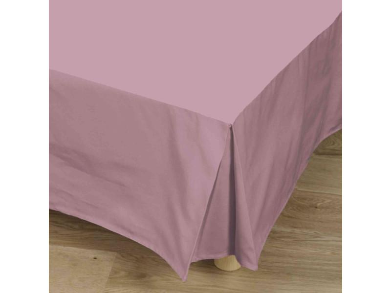 Cache-sommier violet 100% coton 90x190 cm - tradilinge