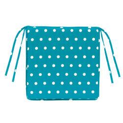 Galette de chaise carree trendy turquoise 38 x 38 x 3 les ateliers du linge