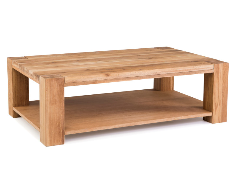 Table basse rectangulaire en chêne massif - carval