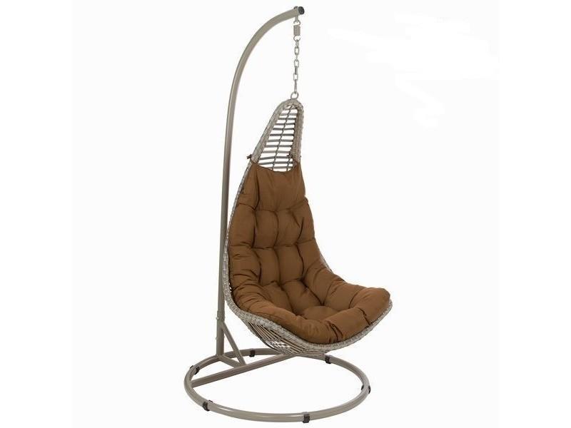 Chaise Balancoire De Jardin Marron Conforama