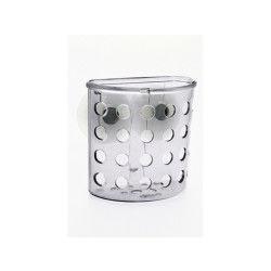 Porte brosse à dent de salle de bain ventouse - galet - transparent