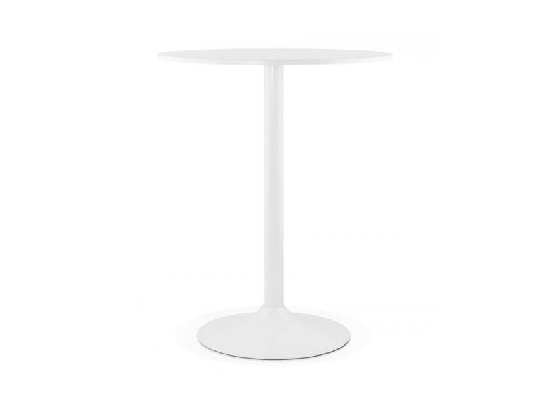 Table bar design bolero white 90x90x110 cm