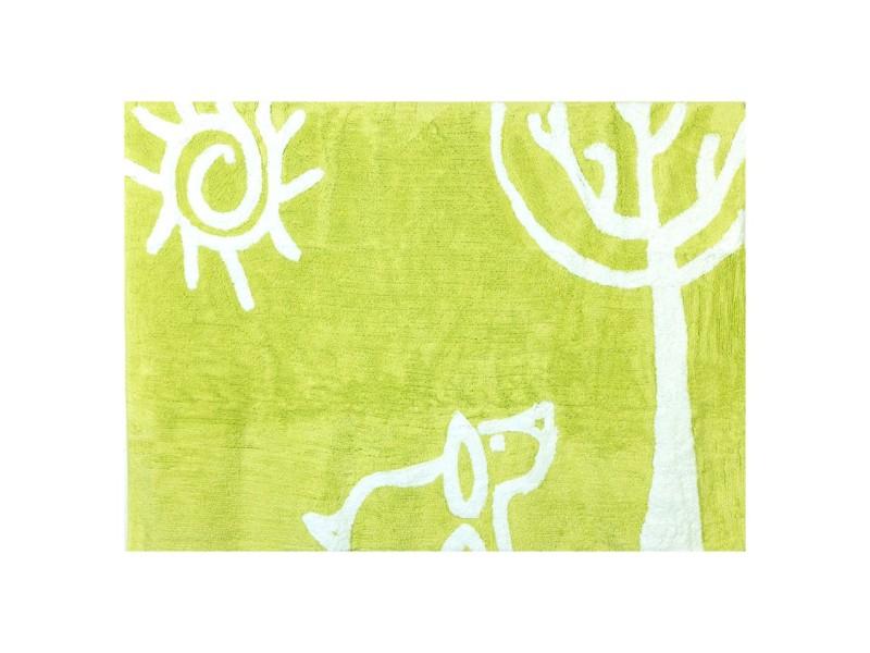 Tapis enfant coton chien - 120x160 cm