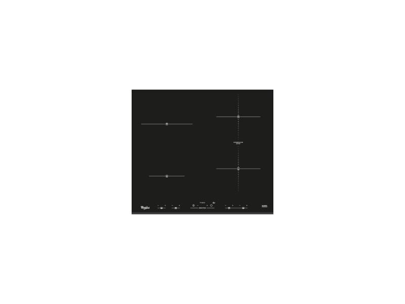 Whirlpool - acm932bf - table de cuisson induction - 4 foyers - 7000w - l58 cm x p51cm - noir WHI8003437832086