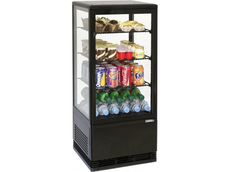 Mini vitrine réfrigérée positive 78l noire cvr78ln CVR78LN