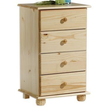 chiffonnier commode apothicaire 4 tiroirs pin massif vernis naturel vente de idimex conforama. Black Bedroom Furniture Sets. Home Design Ideas