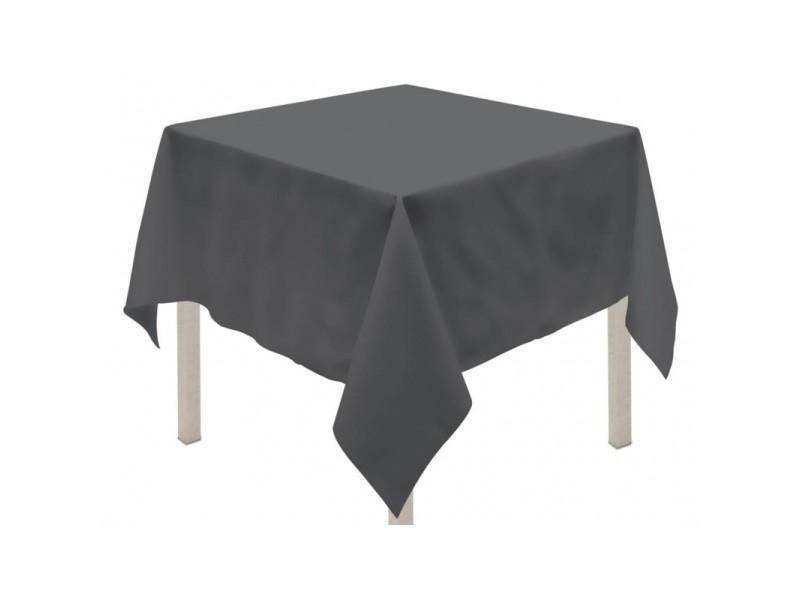 Nappe anti tâches carrée - 180 x 180 cm - alix - gris anthracite