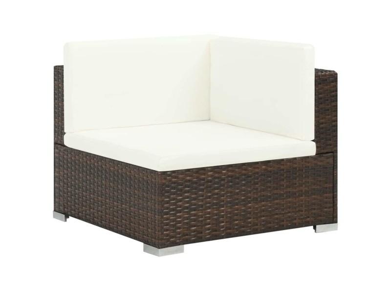 Icaverne - ensembles de meubles d'extérieur ligne ensemble de canapé d'extérieur 19 pcs résine tressée marron