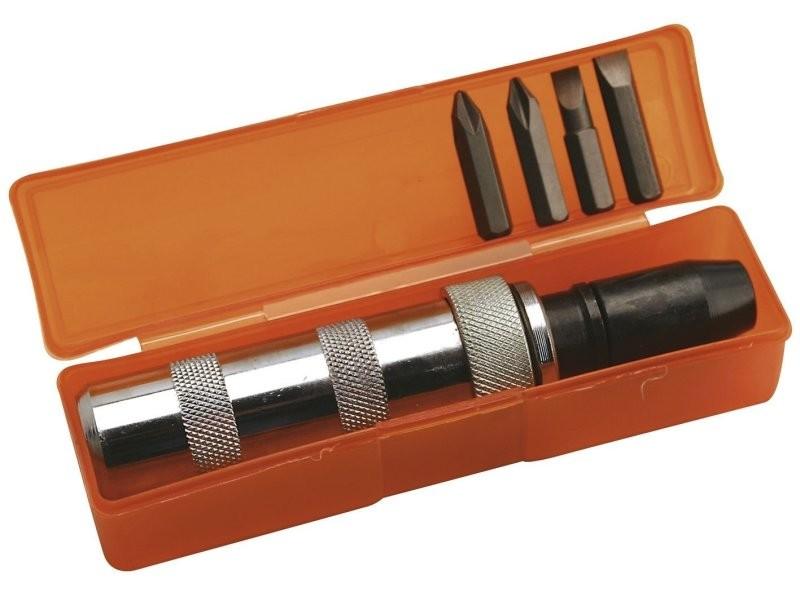 Coffret tournevis à frapper + embouts visser dévisser douille vis qualité pro outils atelier bricolage helloshop26 3417045