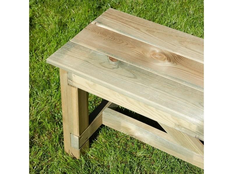 Banc de jardin 3 places en bois traité autoclave, normand ...