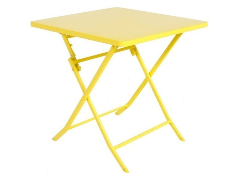 Table de jardin hespéride carrée greensboro 70 x 70 cm citron ...