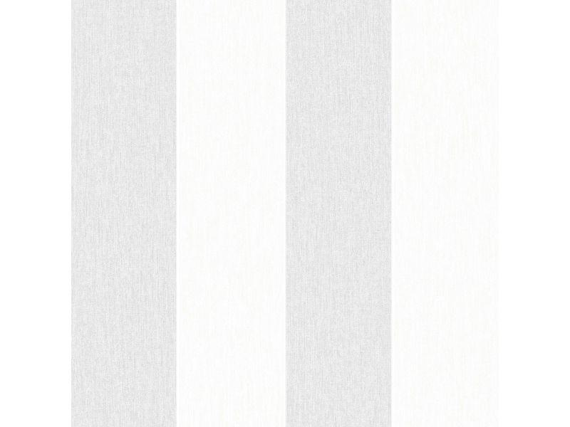 Papier peint intissé calico rayures vinyle grainé 1005 x 52cm gris 32-780