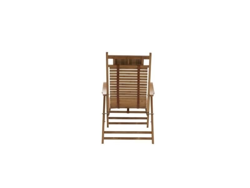 Pliante Conforama Wadiga Chilienne Chaise Vente Bambou De Longue En 8nkXw0OP