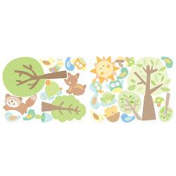 Stickers chambre bébé histoires d'animaux