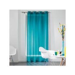 rideau voilage store bleu conforama. Black Bedroom Furniture Sets. Home Design Ideas
