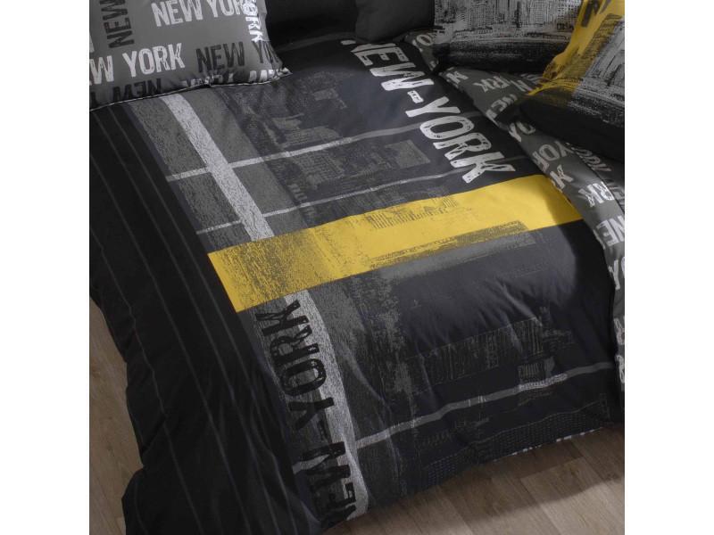 Housse De Couette 240x220 Cm 100 Coton New York Vente De Linnea