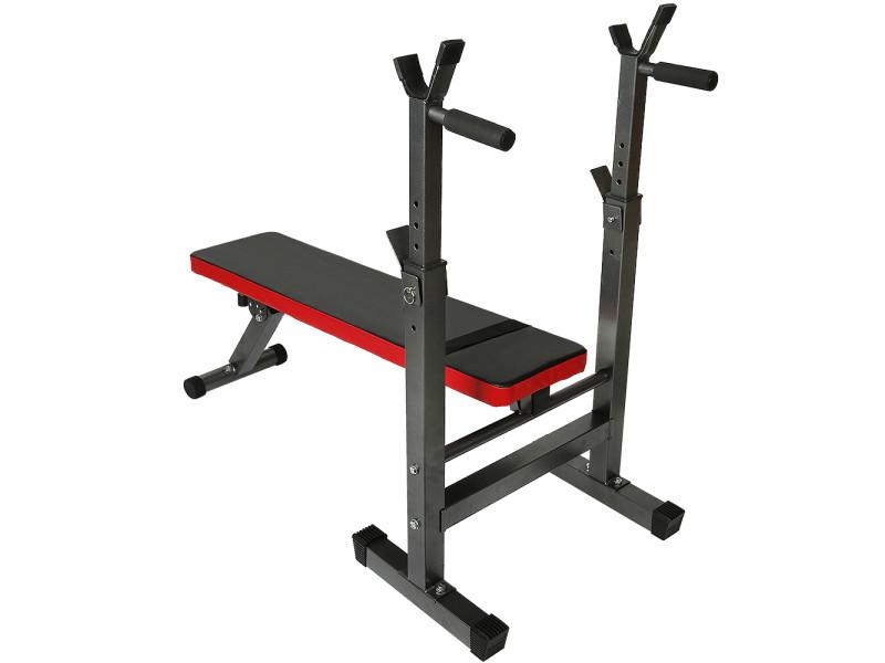Hombuy banc musculation banc d'haltérophilie hauteur réglable pour haltère station dips charge max 200 kg