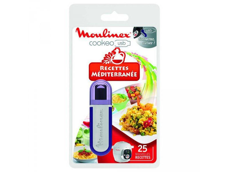 Moulinex clé usb cookeo 25 recettes méditérranée réf. Xa600011