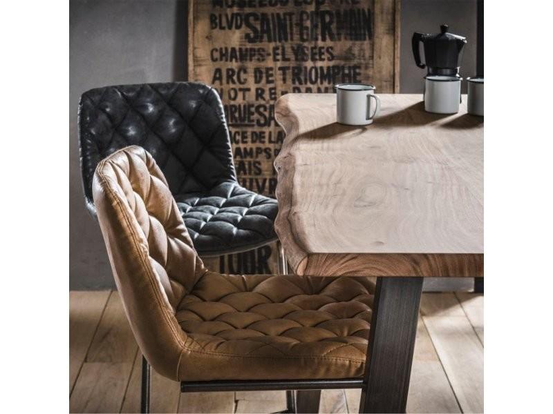 chaises de bar matelassé tronc