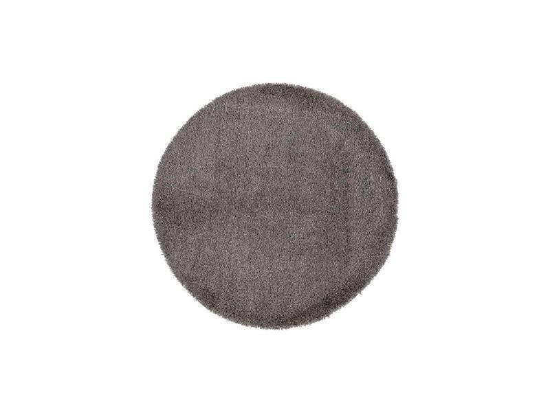 tapis shaggy rond kokoon design dk01040gr vente de kokoon design conforama. Black Bedroom Furniture Sets. Home Design Ideas