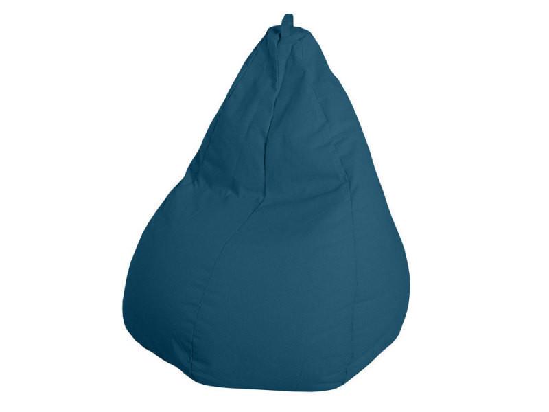 pouf poire 100 coton d75x110cm bleu canard vente de pouf conforama. Black Bedroom Furniture Sets. Home Design Ideas