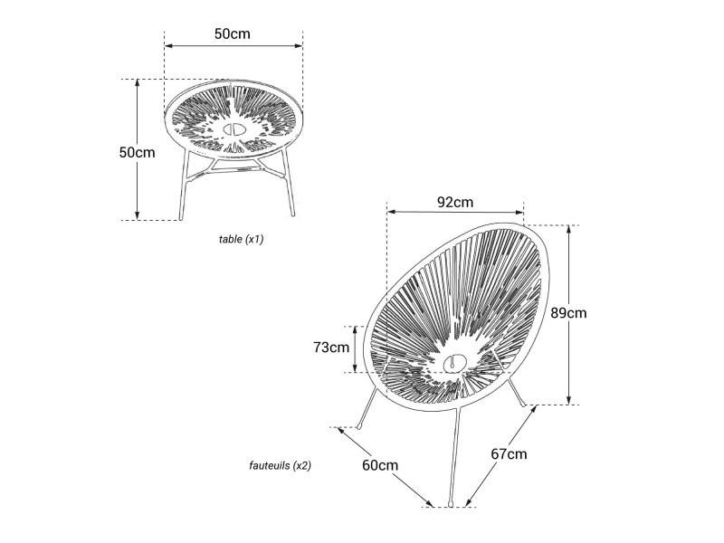 table acapulco conforama
