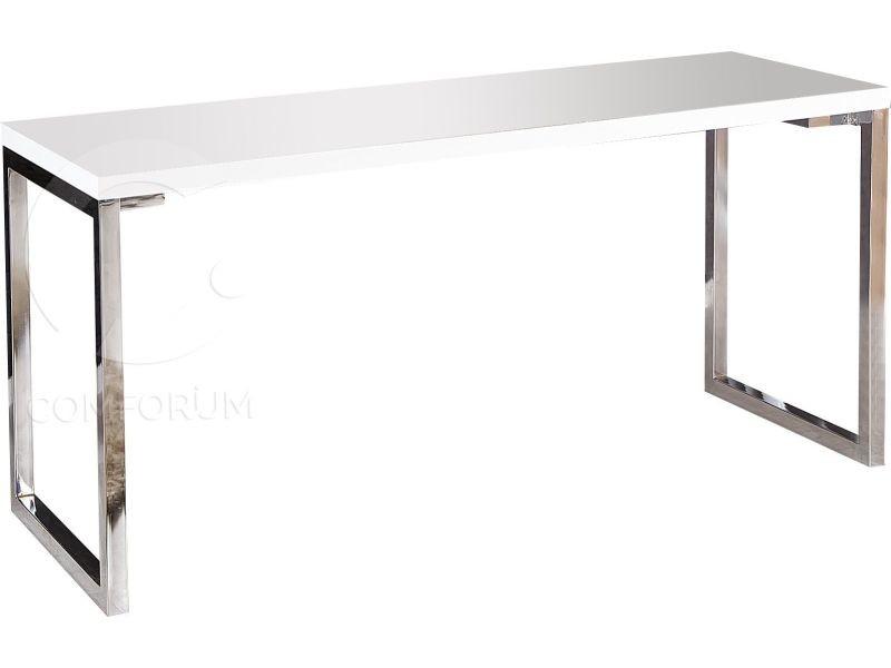 Bureau design rectangle blanc laqué de cm vente de comforium