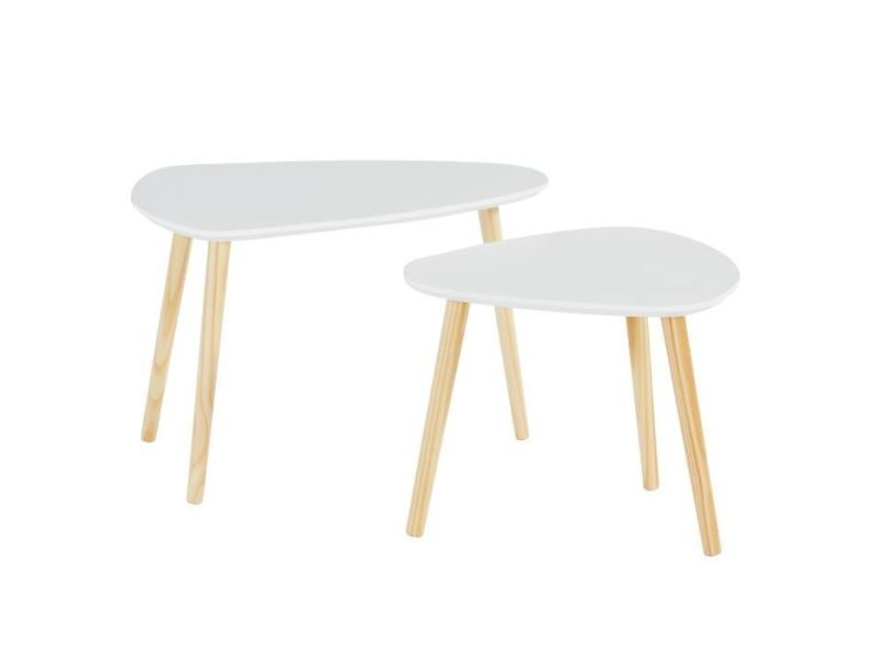 Table Gigogne Litchi Lot De 2 Tables Gigognes Scandinave