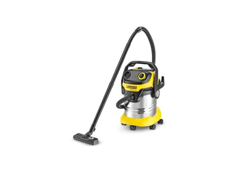 Kärcher aspirateur eau-poussiere wd 5 premium - cuve inox 25l - fonction soufflerie et décolmatage de filtre 13482300