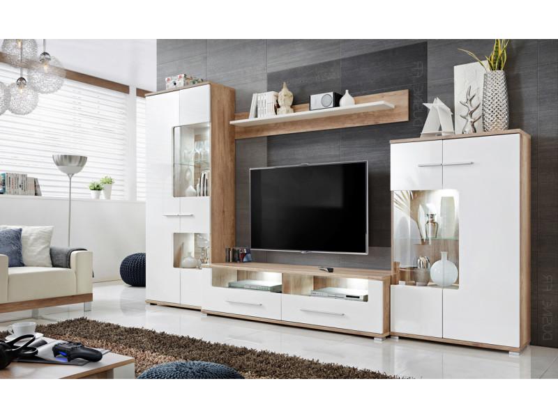 Meubles Rangements Sohalia Avec Armoire Pour Salon Tv Led Conforama