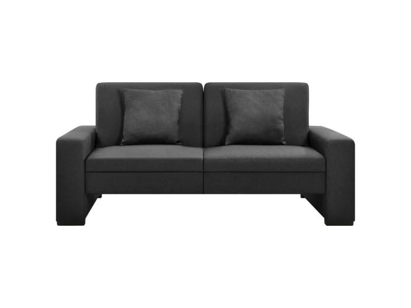 Vidaxl canapé-lit gris foncé tissu 323613