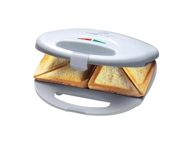 Appareil à sandwichs clatronic st 3477 - blanc-inox