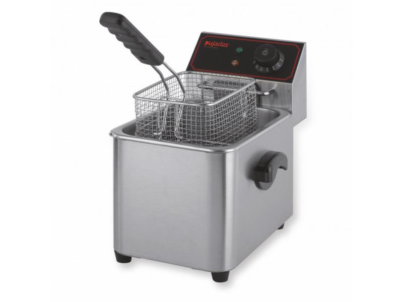 Friteuse professionnelle à poser inox 5 litres - pujadas -
